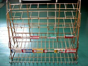 Vtg 1960 s Candy Store Display Rack Chewing Gum Advertising Metal Shelf Sign