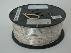 Allied Wire Cable 158354435 Wire Reel 500 10 Awg White orange New Surplus