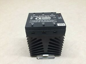 Omega Din Rail 3 Phase Solid State Relay Ssr3ph660dc30 30amp 24 660vac