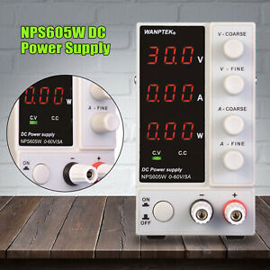 Dc Power Supply Bench Power Supply 0 60 V 0 10 A Led Variable Power Supply