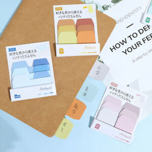 60 Blank Notes Pack Index Divider Sticky Notes Paper Tabs Office School Sup Wt