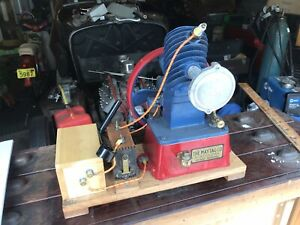Maytag Magneto Upright Gas Engine Hit Miss Red Blue
