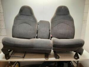 00 2000 Ford F140 Oem Front Bench Seat Assembly 40 60 Cloth Power