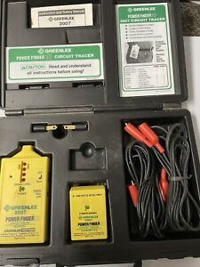 Greenlee Power Finder 2007 Circuit Tracer W Case And Instructions Tested