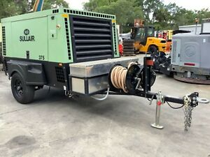 2017 Sullair 375 Portable Compressor Powered By A Cat Engine Only 75 Hours