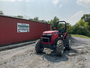 2017 Massey Ferguson 2604h 4x4 50hp Utility Tractor W 1 Remote Only 400hrs