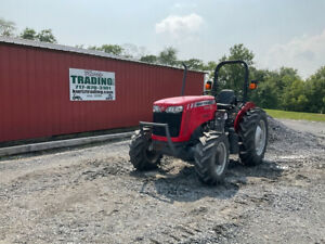 2017 Massey Ferguson 2604h 4x4 50hp Utility Tractor W 1 Remote Only 500hrs