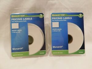 Monarch Easy load 1136 Two line Pricemarker Labels 5 8 X 7 8 W 028028674713