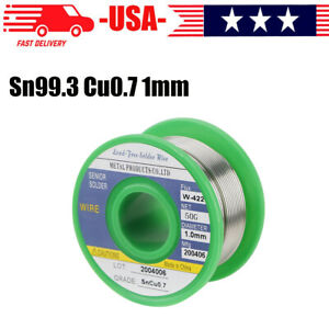 Lead Free Solder Wire Sn99 3 Cu0 7 With Rosin Core For Electronic 50g 1 0mm