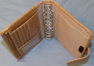 Wilsons 6 ring 1 Compact Gator Leather Planner Personal Small Binder Franklin