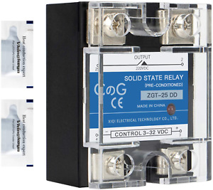 Cg Solid State Relay Ssr 25dd Dc To Dc Input 3 32vdc To Output 5 240vdc 25a Sing