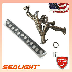 For 91 99 Jeep Wrangler Cherokee 4 0l Tj Yj Xj Stainless Manifold Header Exhaust