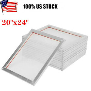 12pack 20 X 24 Aluminum Silk Screen Printing Frame With 110 Mesh White