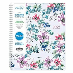 Blue Sky 2022 Weekly Monthly Planner 8 5 X 11 Flexible Cover Wirebound