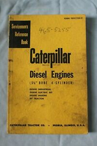 Cat Caterpillar Diesel Engines 5 34 Bore 4 Cylinder Service Reference Book