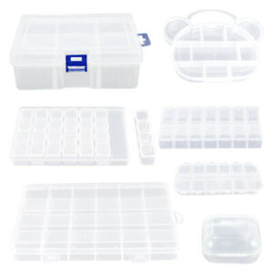 Multipurpose Clear Plastic Box Jewelry Storage Container For Beads Earrings 89C C $3.07