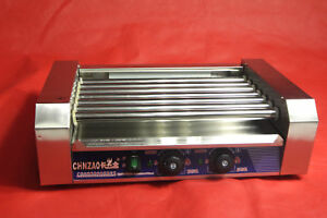 Double Temperature Control Commercial 220v 7 Roller Hot Dog Grill Cooker Machine