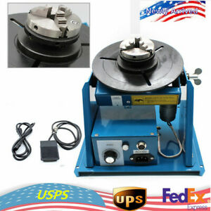 110v Rotary Welding Positioner Turntable Table Mini Jaw Lathe Chuck Us