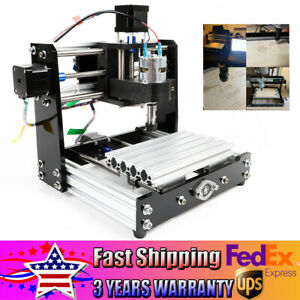 3 Axis Cnc Router Engraving Cutting Pvc Type Wood Pcb Plastic Milling Machine Us