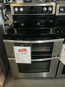 6 7 Cu Ft Electric Double Oven Range With True Convection open Box