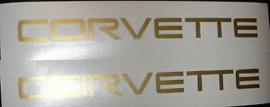 2x Corvette 8 Gold Decals Stickers For Vettes Toolbox Windows Racing