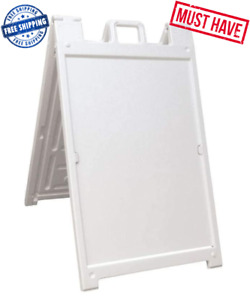 Signicade Deluxe A frame Sidewalk Curb Sign Portable Folding Double sided