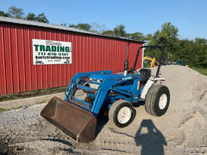 1995 Ford 1520 4x4 Hydro 20hp Compact Tractor W Loader Cheap