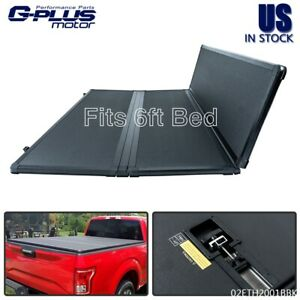 Fit For 2005 2015 Toyota Tacoma 6ft Short Bed Tri Fold Lock Hard Tonneau Cover
