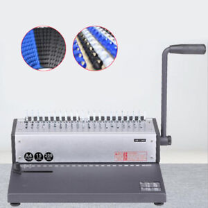 Us Stock Punching Binding Machine Spiral Coil Binder Puncher Office Home Usa