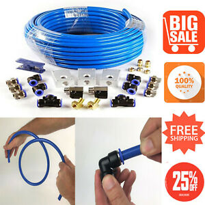 Air Piping System 1 2 In X 100 Ft Nylon Compressed Air Tubing Shop System Kit