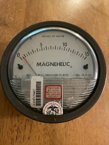 Dwyer Magnehelic Pressure Gauge 0 To 15 In H2o Dwyer Instruments 2015