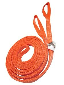 1 X 16 Ft Twisted Eye 2 Ply Polyester Sling For Rigging Lifting Tow Strap