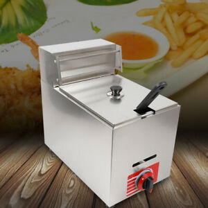 Stainless Steel Commercial Gas Fryer Restaurant Kitchen Deep Fryer With Basket