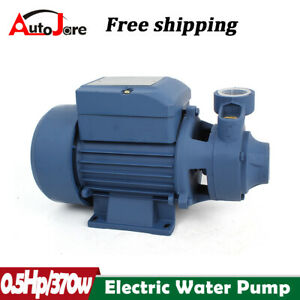 Water Pump 12hp Electric Clear Transfer Centrifugal Pool Pond 110v 60hz 370w