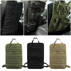Tactical Molle Car Seat Back Organizer Panel Vehicle Protector Cover Storage Bag