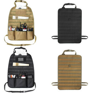 Tactical Car Seat Back Organizer Panel Vehicle Cover Molle Protector Storage Bag