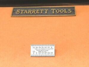 Starrett No 600r 1 1 Inch Long Tempered Steel Rule With Inch Graduation Usa