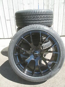 20 Factory Style Dodge Charger Hellcat Srt Staggered Gloss Black Wheels Tires 4