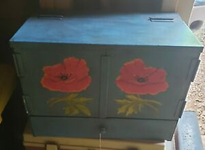 1 Drawer 2 Door Vintage Spice Cabinet Box Cupboard Apothecary Chest Stamp Steel