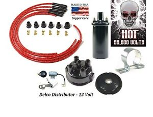 Delco Ignition Tune Up Kit For Avery Tractors 12v Hot Coil red
