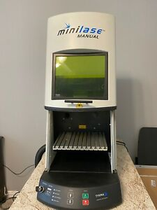 Minilase Manual Laser Marking System 20w Fiber Laser With Fume Extraction