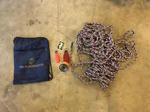 Tree climbing Gear Lot 100 ft Rope Throw line Two Throw Bags Carrying Bag