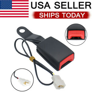New Car Front Seat Belt Buckle Padding Socket Plug Connector With Warning Cable