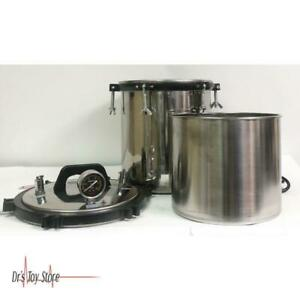 18l Steam Autoclave Sterilizer Stable Safe Stainless Steel Dual Heating