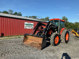 2003 Kubota M9000 4x4 90hp Farm Tractor W Cab Loader Only 2500 Hours