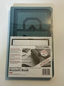 Boorum Pease Record account Book Record Rule Blue 500 Pages 12 1 8 X 7 5 8