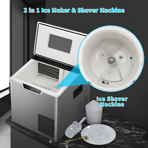 44lbs Commercial Ice Maker Machine Nugget Countertop Self Cleaning Crushed Ice