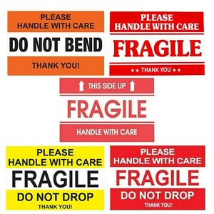 Fragile Stickers Handle With Care Do Not Bend Do Not Drop Thank You
