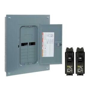 Square D 125 amp 24 circuit 12 space Electric Main Breaker Load Center Panel