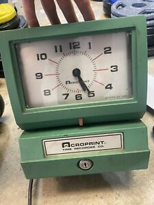 Acroprint Electric Time Clock Recorder 150nr4 Key Not Included